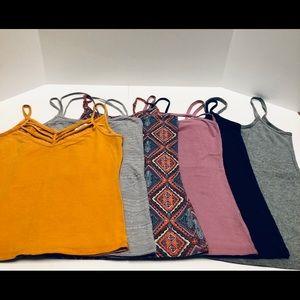Six Camisoles Size Medium and Large Lot